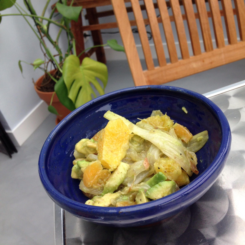 Salade fenouil, avocat et orange