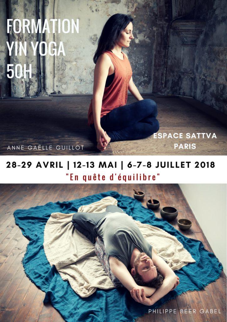 Formation Yin Yoga 50h || 3 week-ends (avril, mai et juillet) 2018 || PARIS, FRANCE